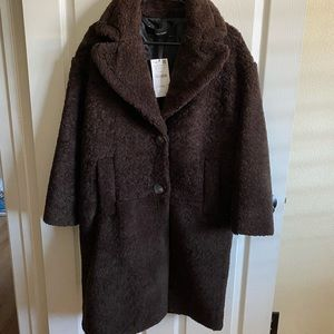 Nwt Zara wool blend teddy bear coat sz S